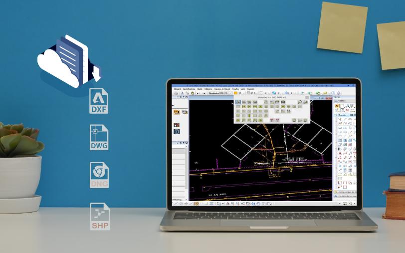 Téléchargez votre modèle 3D dans le format de votre choix SHP, DNG, DWG, DXF, CSV…